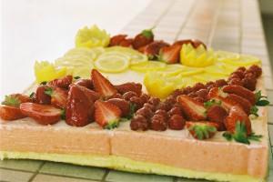 Bavarois citron fraise1
