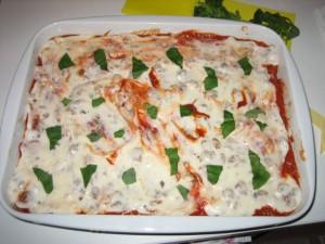 Lasagne crue