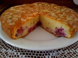 Gâteau amandes & framboises2